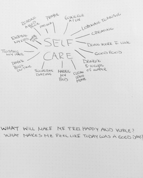 I took 2 minutes to jot down the first things that came to mind when I thought about what being intentional in caring for myself looks like. It actually had me thinking of what I have been missing, what would make me happy, more confident and focused. I decided to commit to at the very least two of these actions today. I've already made my bed so I am winning and I've logged in 6 miles this morning but those things have started to feel like the status quo and I need more. I challenge you to take two minutes and do the same. What are some things you've noticed you haven't done in a long time that would make you happy?